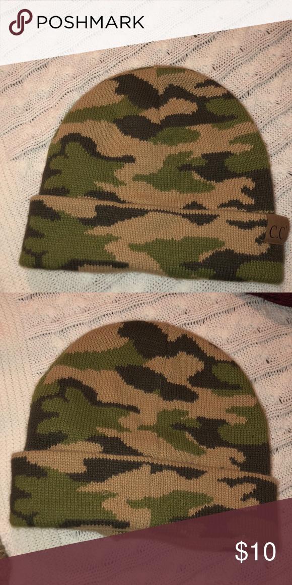 85b901163c5 Men s camo beanie Never worn camo beanie CC Boutique Accessories Hats