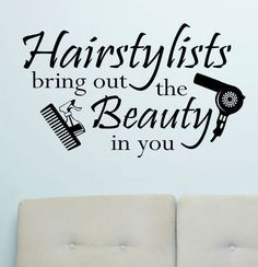 Vinyl Wall Lettering Quotes Hairstylists Bring out Beauty Salon Hairdresser Shop Decor