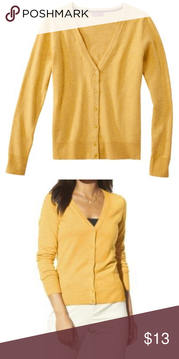 Yellow Button Down Cardigan | Smoke free and Smoking
