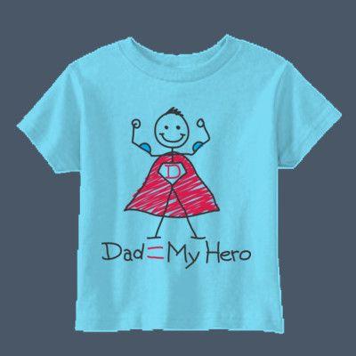 Dad=my hero fun cute kids tshirt
