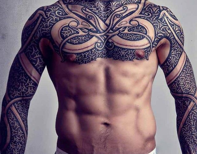 Grey Ink Full Sleeve Viking Tattoos Photo 1 Celtic Sleeve Tattoos Viking Tattoo Sleeve Viking Tattoos For Men