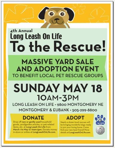 Long Leash On Life 4th Annual To The Rescue Event Pet Adoption