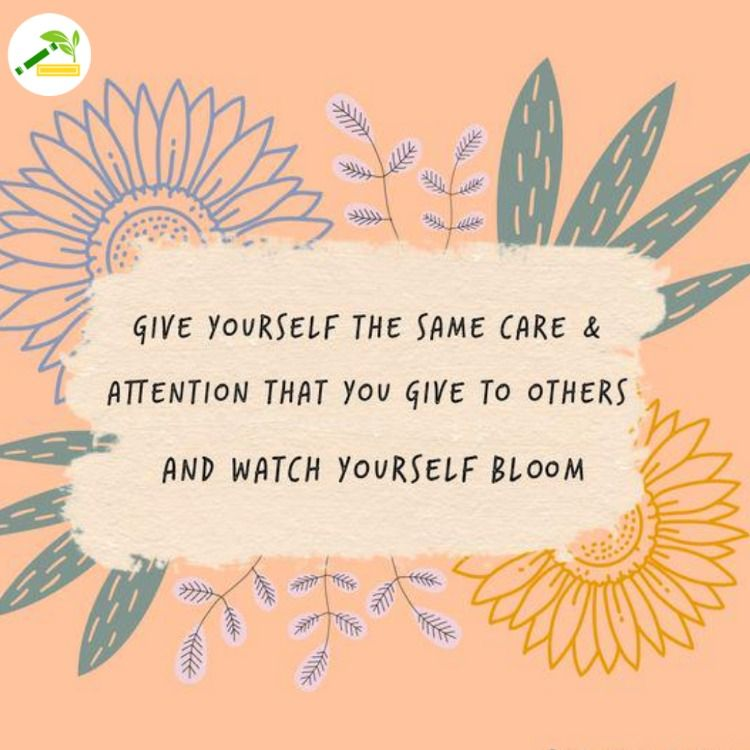 Give yourself the same care & attention that you give to others and watch yourself bloom. #fresh_essay #attention #b… | Words quotes, Care quotes, Positive quotes