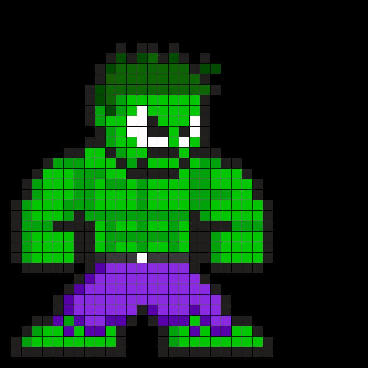 hulk pixel art for - photo #9