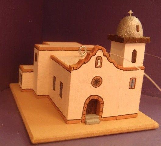 Ysleta Mission ornament by Carolyn Johnson. New Mexico | Church ...