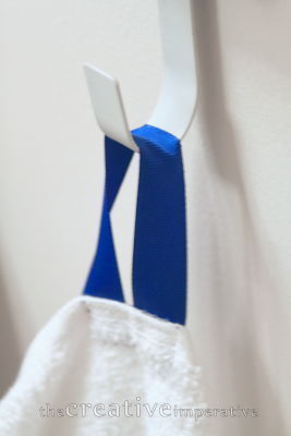 The Creative Imperative Bathroom Towel Hooks For The Kids Sew A Loop Of Ribbon To Side For Easy