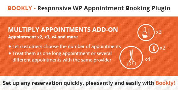 Bookly Multiply Appointments (Add-on) -   codeholdernet/item - reservation forms in pdf