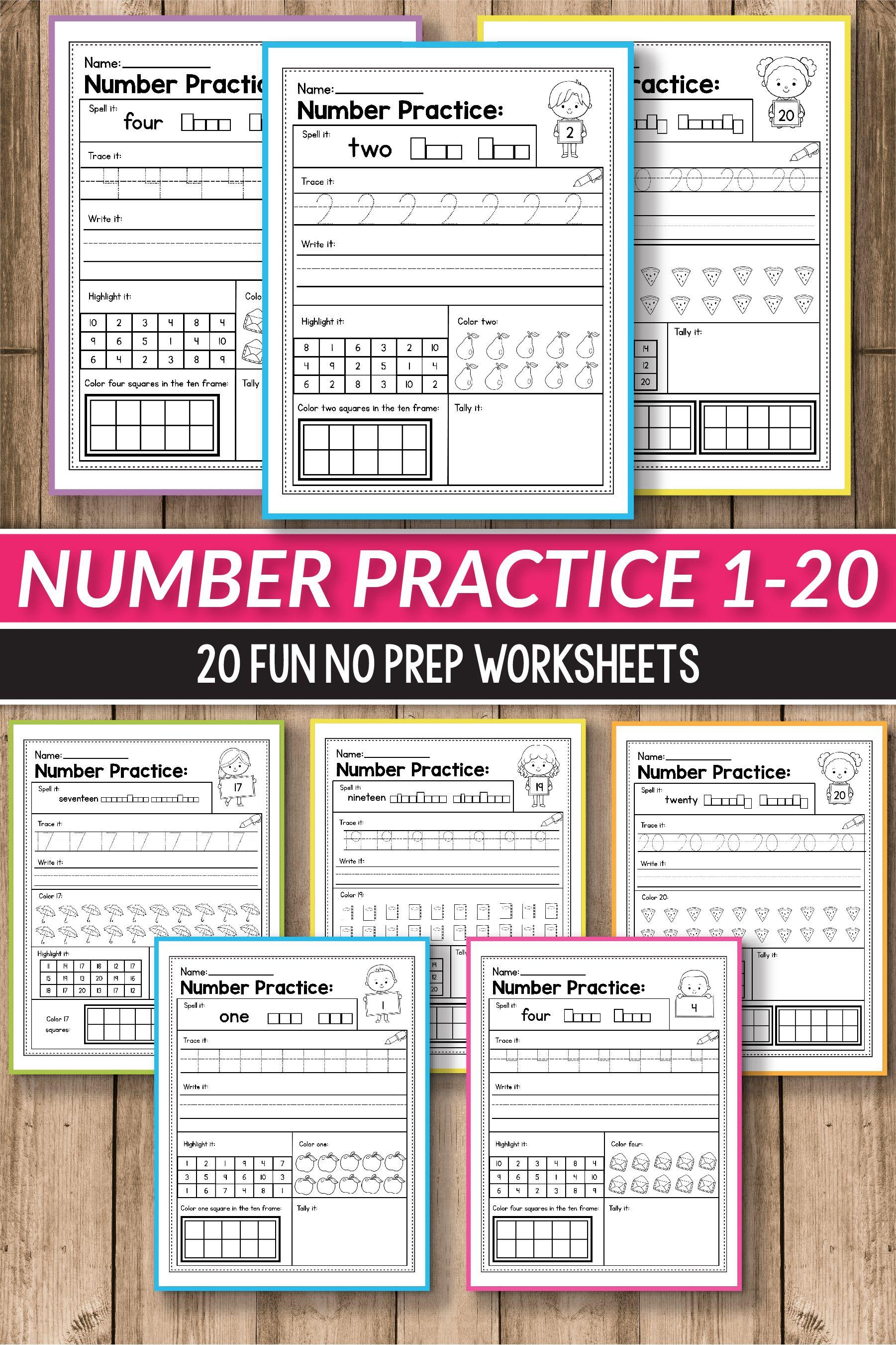 Number Sense Activities Kindergarten