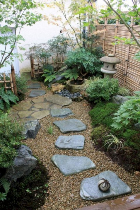 76 beautiful zen garden ideas for backyard bordes de - Bordes para jardines ...