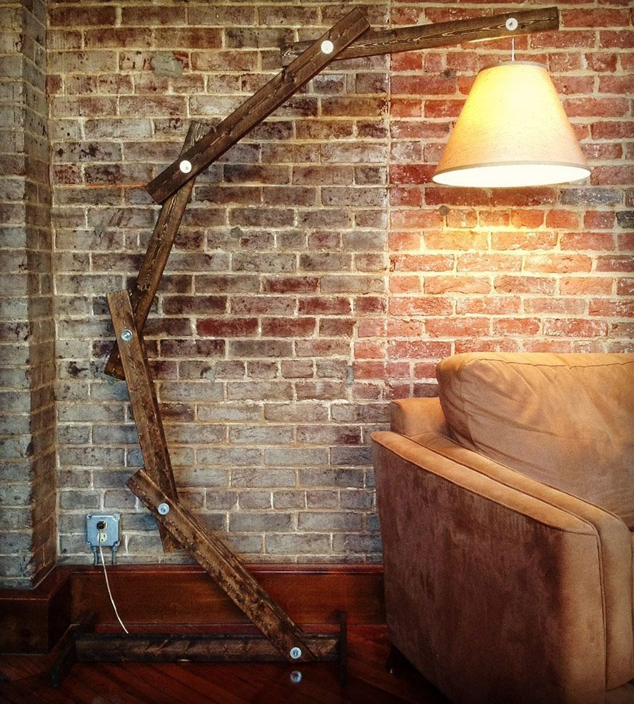 Rustic Wood Arc Floor Lamp By Awalkthroughthewoods On Etsy: Make Your Own Giant Anglepoise Lamp