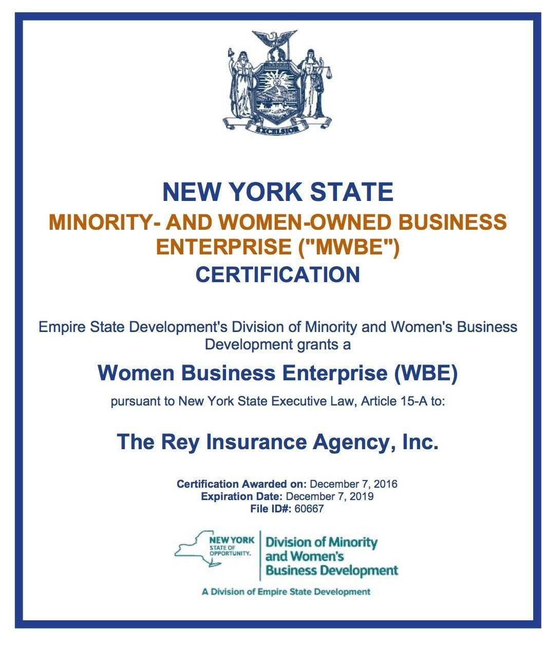 Took Only 11 Months And About 48 Documents But We Are Officially Nys Certified Woman Owned Business Enterprise
