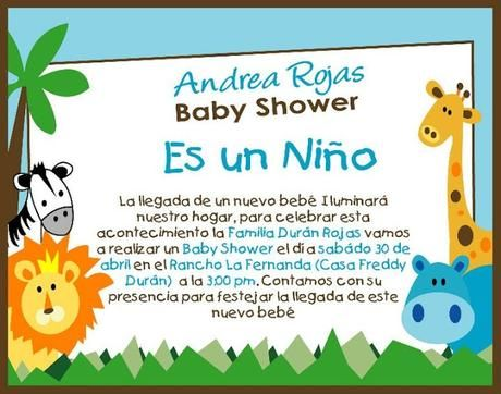Tarjetas De Invitación Para Baby Shower Niño Tarjeta 1 Pinterest