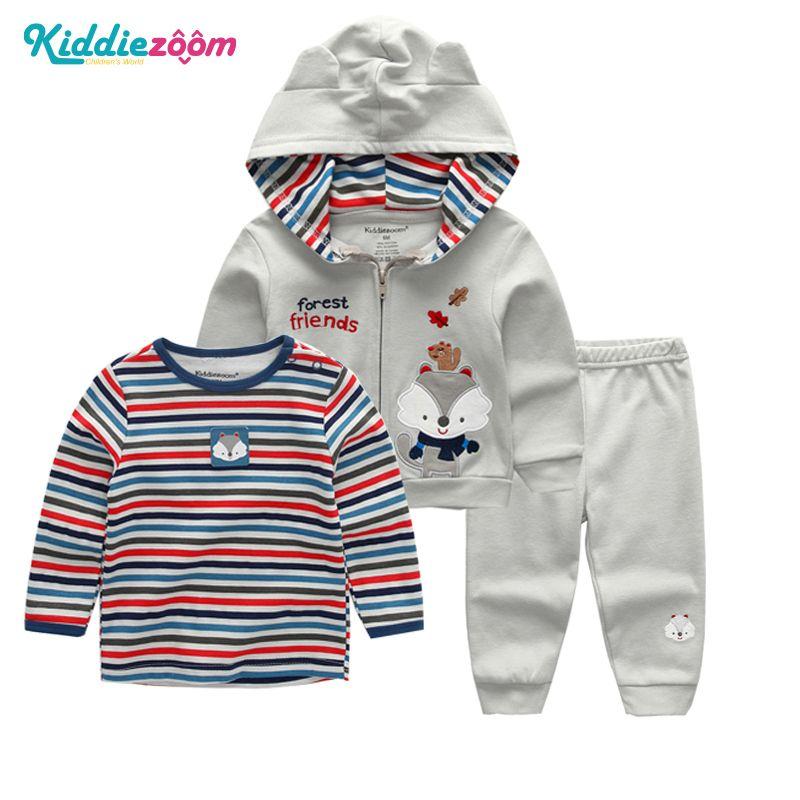 Newborn Infant Baby Boys/&Girls Cartoon Print Hoodie Tops T-Shirt+Pants Outfits