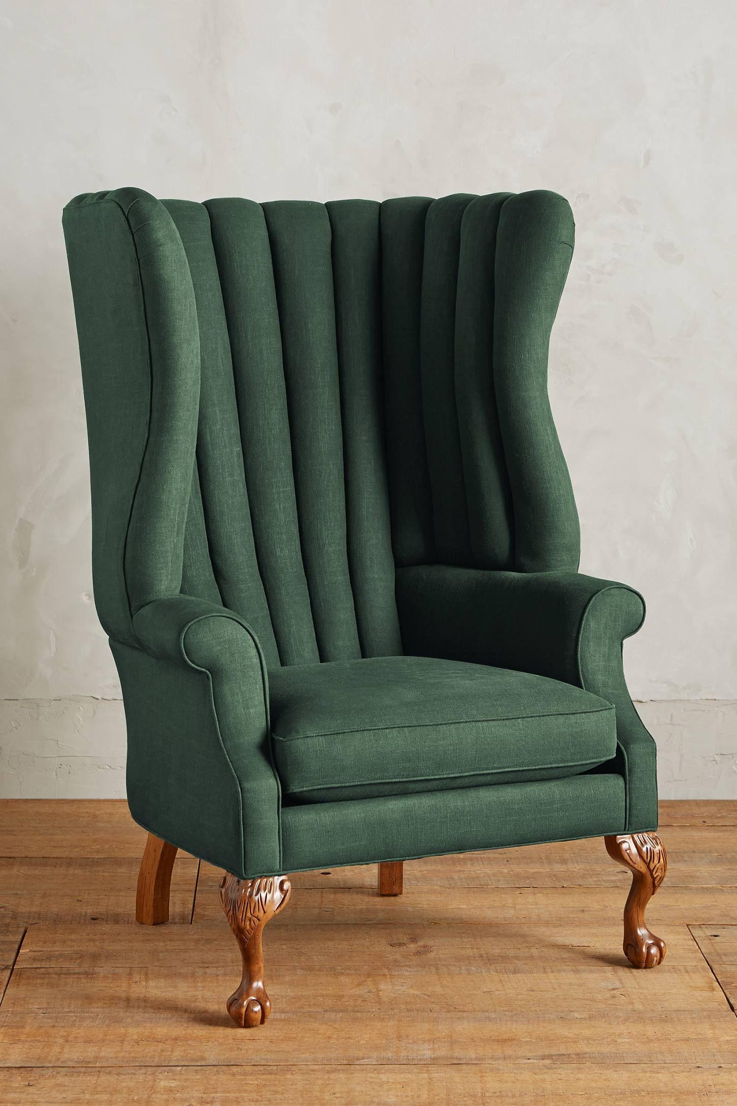 Best Linen English Fireside Chair Chair Anthropologie 400 x 300