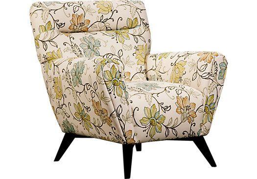 Cool Sofia Vergara Catalina Green Floral Accent Chair Condos Inzonedesignstudio Interior Chair Design Inzonedesignstudiocom