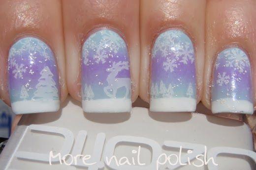 Nail Polish Canada - Holiday Nail Art Challenge - Snow - More Nail Polish