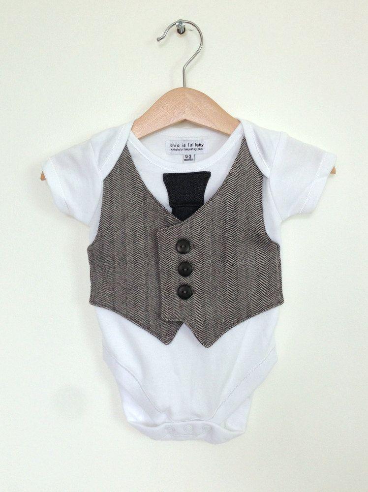 Baby boy clothes 0 to 3 months, newborn boy vest and tie ...