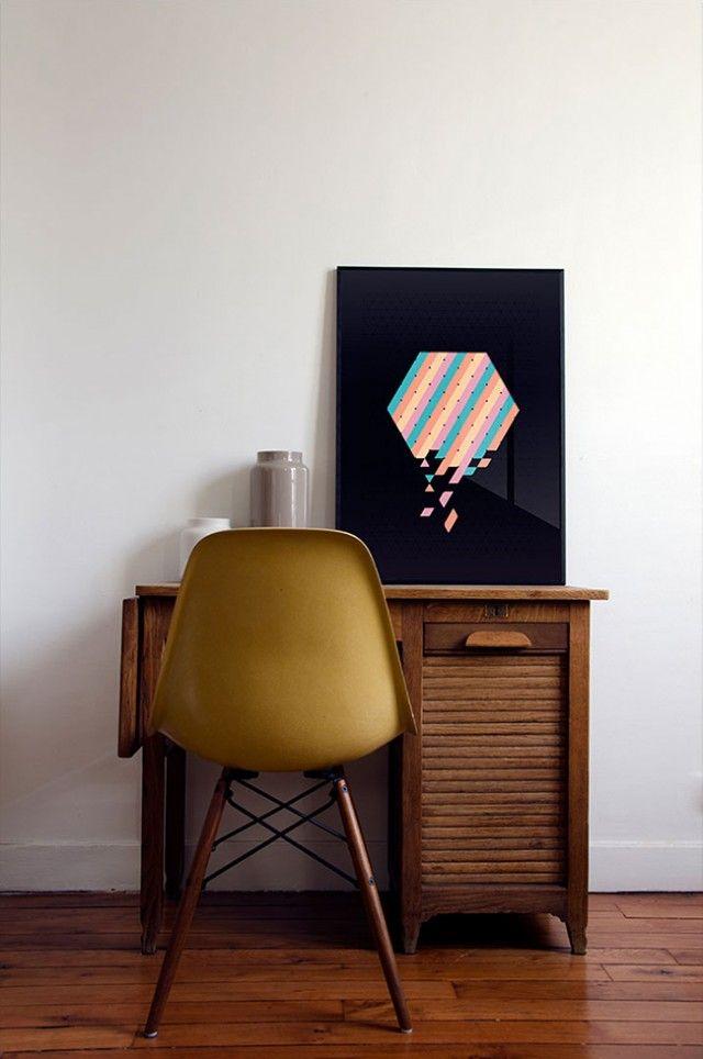 Fabrique Generale 6080 Triangles De Papier En Affiche Home Decor Shops Home Decor Home Furniture