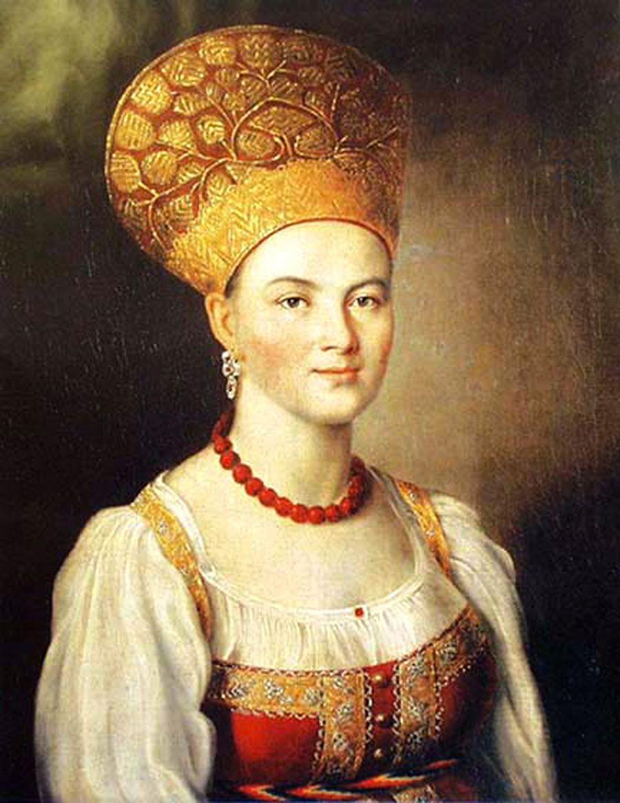 Woman In Russian Dress 1784 Ivan Petrovic Argunov 1729 1802 Russian Catherine The Great Russian Folk Russian History