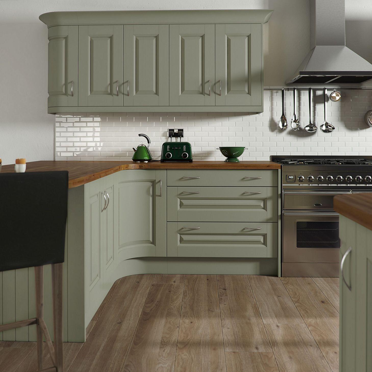 47 Simple Kitchen Cabinets Ideas | Sage green kitchen