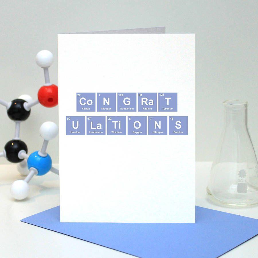 Congratulations periodic table card periodic table congratulations periodic table card gamestrikefo Gallery