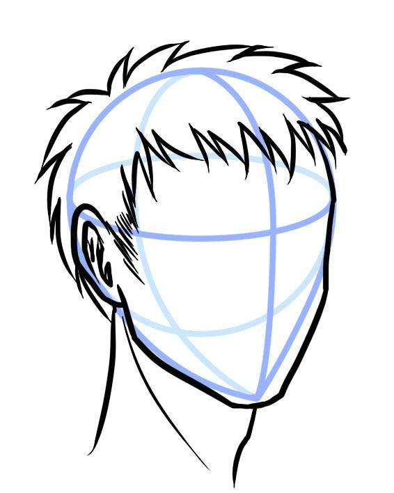 Sketch Hair How To Draw Hair Manga Hair Guy Drawing