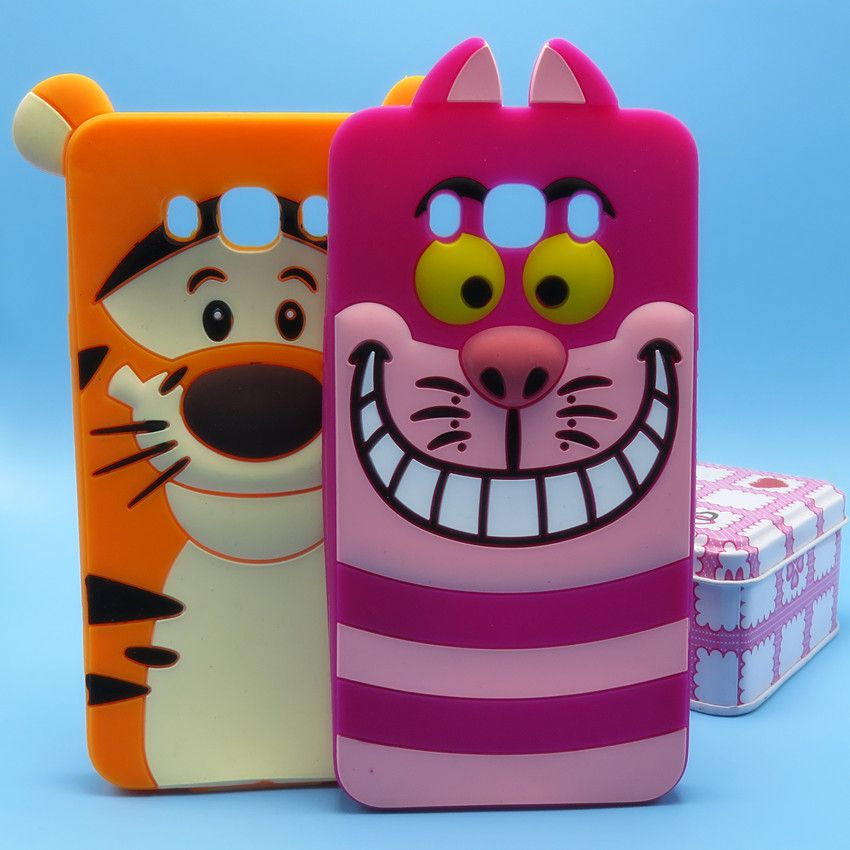 Phone Case For Samsung Galaxy J7 (2016) J710F J710 Case 3D Lovely Cartoon Tigger Cheshire Cat Soft Silicone Back Cover