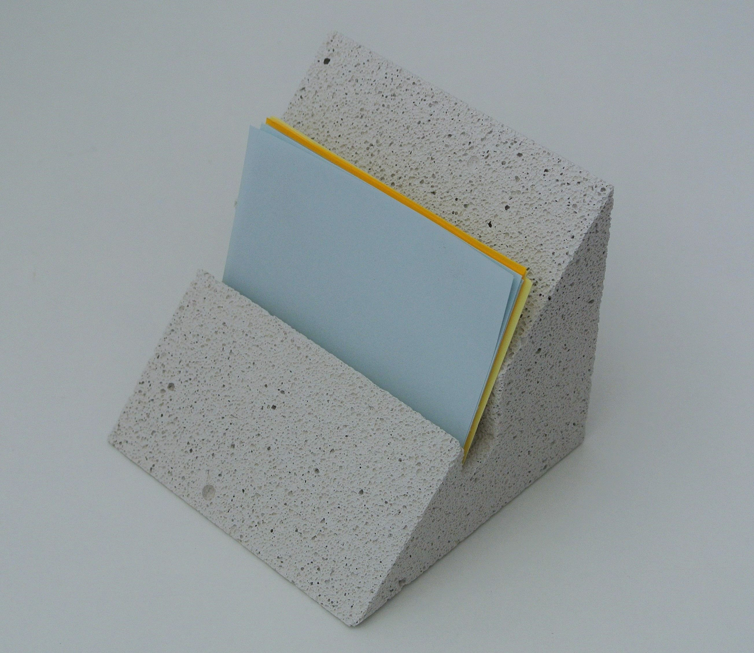 Level - aerated concrete business card holder from Ethereal Concrete ...