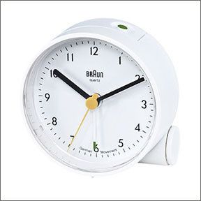 Braun Travel Alarm Clock Ab5 White By Dieter Rams Dietrich Lubs Uhrideen Wecker Braun Wecker
