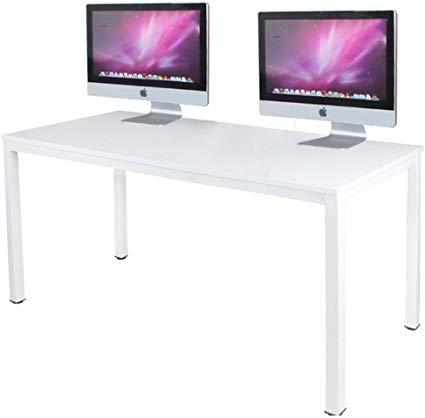 Amazon Com Dlandhome 55 Inches Large Computer Desk Composite Wood Board Decent And Steady Home Offic Large Computer Desk Work Station Desk Home Office Desks