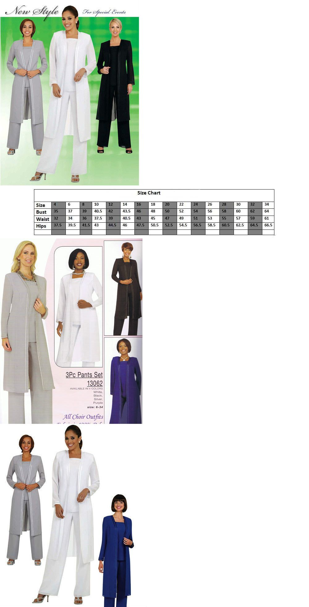 Mother of the Bride 131474: Women 3Pc Pant Set Plus Size Evening ...