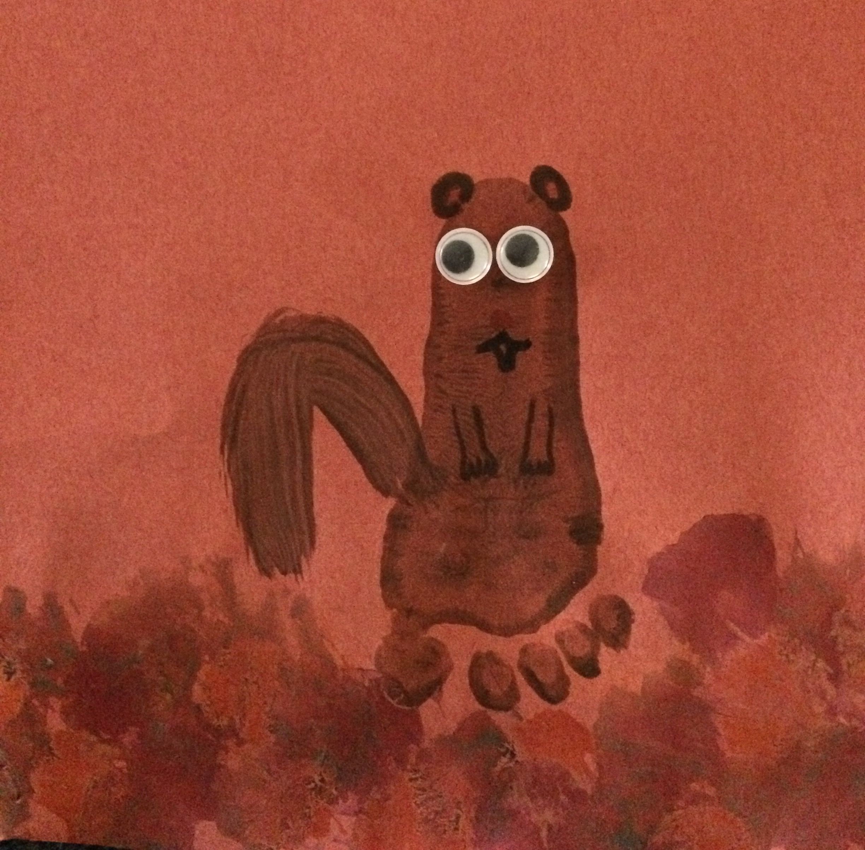 Footprint Squirrel Art