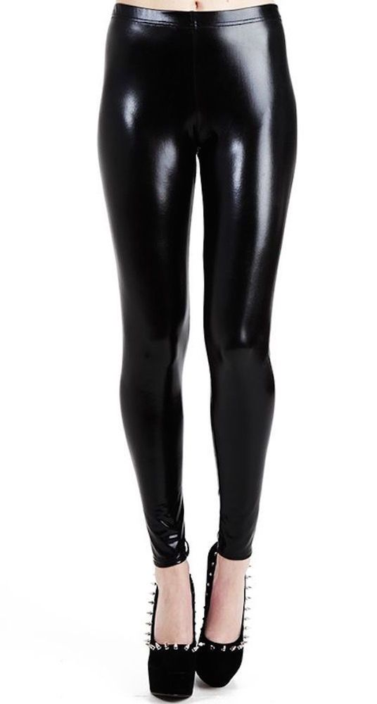 Leather look leggings ebay