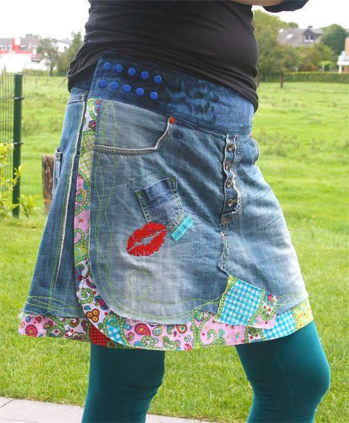 Schnittmuster Flowerpower Jeans Wickelrock Nähen Pinterest