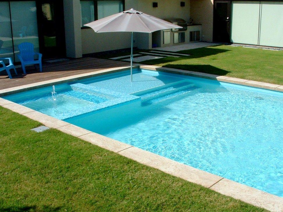 Rectangular Swimming Pool With Umbrella Sleeve Pool Shade As Modern ...
