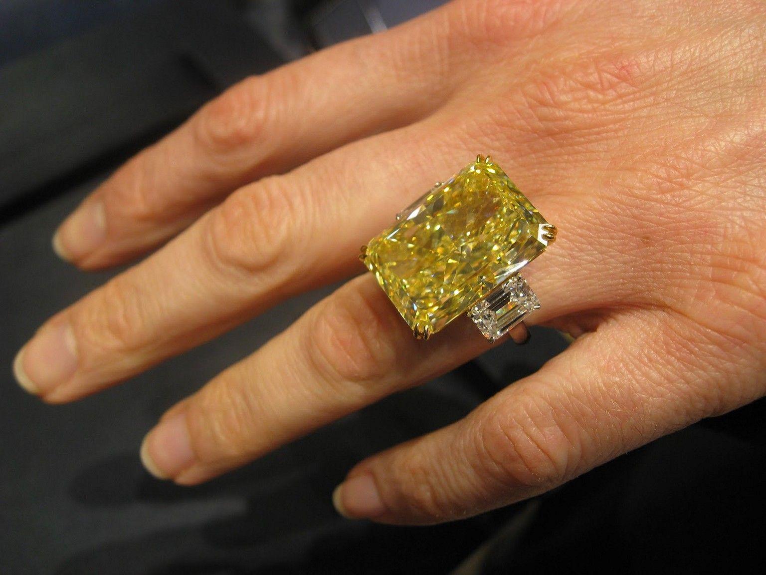 Graff Yellow Diamond Rings Price