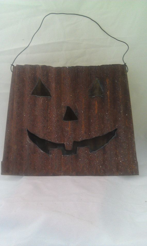 Wholesale Lot of 6 Rusty Recycled Garden Art Halloween by Junkfx ...