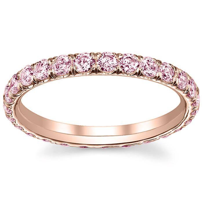 bb94bc7af Rose Gold Pink Diamond Eternity Ring in 2019 | Diamond Wedding Rings ...