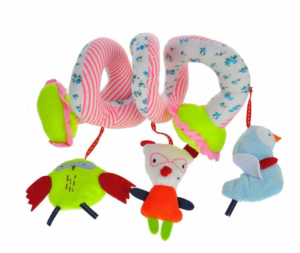 Baby Mobile Crib Music Toy Kid Crib Cot Pram Ringing Bed Bells Spiral Toys