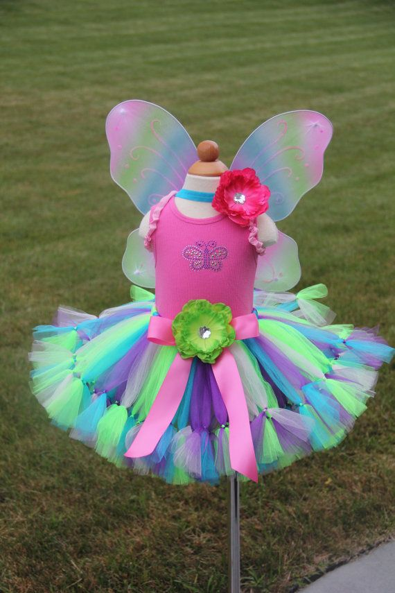 Butterfly Fairy Costume Petti Tutu Set by PirouetteBoutique, $72.95