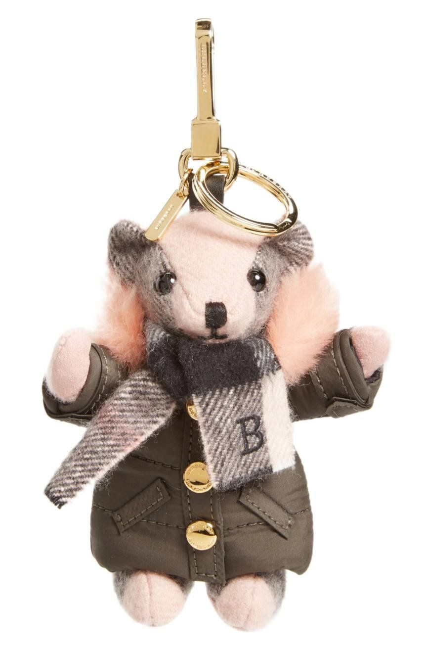4cc3f9c4fd5 Thomas Bear (Burberry s signature teddy) is all ready for cold weather in a  quilted puffer jacket detailed with soft genuine-shearling trim at the hood.