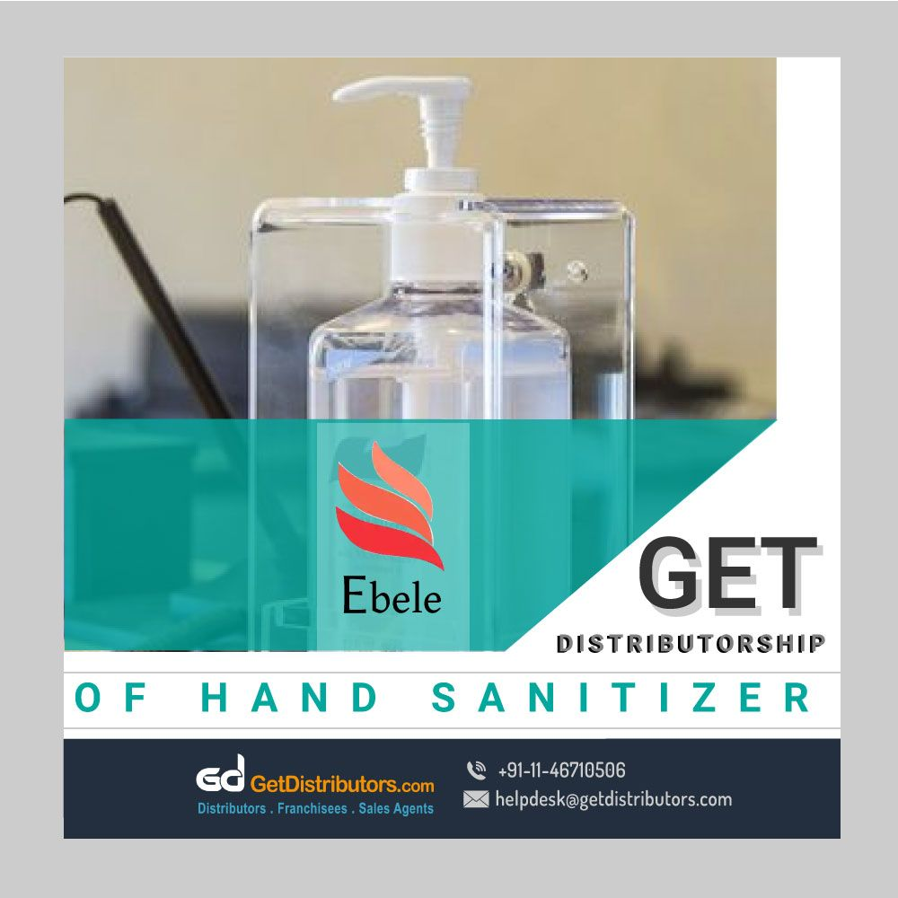 Get The Distributorship Of Gel Based Hand Sanitizer