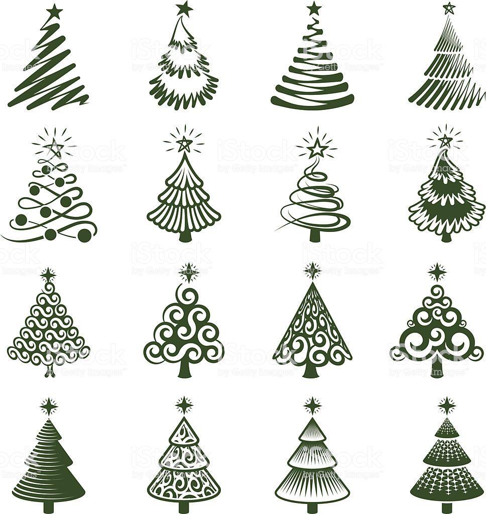 Christmas Trees Icon Set Xmas Crafts Christmas Drawing Christmas Crafts