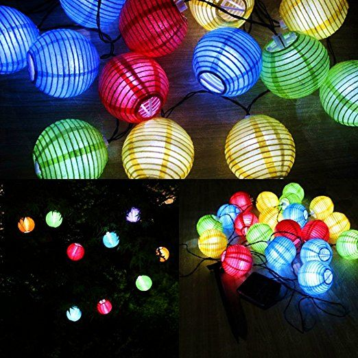 uping solar lichterkette 20er led lampion laterne f r party garten weihnachten halloween. Black Bedroom Furniture Sets. Home Design Ideas