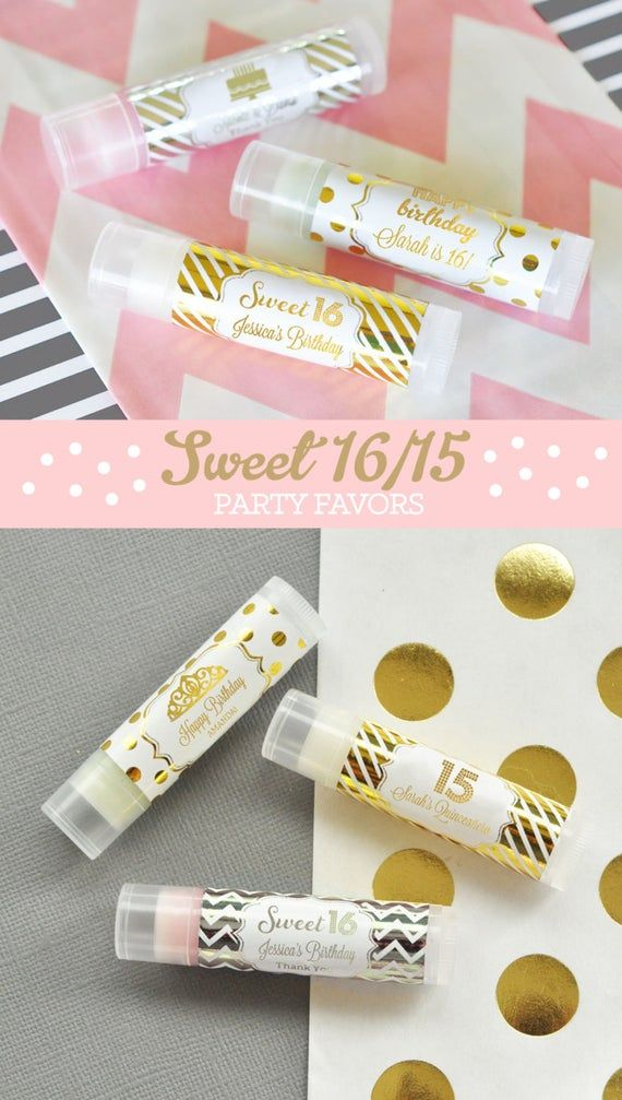 Sweet 16 Favors Sweet Sixteen Party Favors Sweet 16 Party Favors Lip Balms Unique Sweet Sixteen Party Ideas for Favors (EB3031FY) - 16| pcs