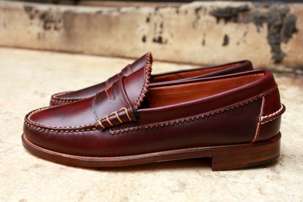 37ddcb6b0f Horween shell cordovan loafers from Rancourt   Co. Penny Loafers