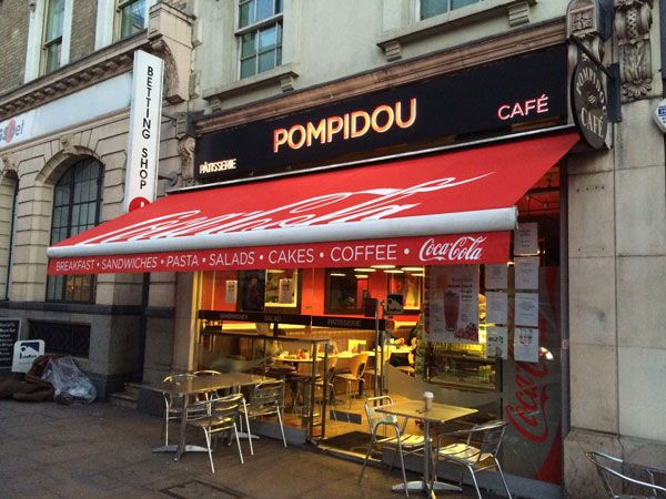 Branded Commercial Awnings Umbrellas And Cafe Barriers