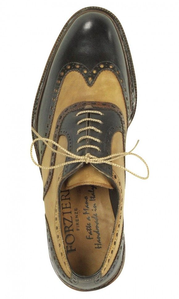 7200b658eeb9f Forzieri two tone black and tan wingtip shoes. Worn by Nucky Thompson in  Boardwalk Empire (you ll see a close up in the opening credits).