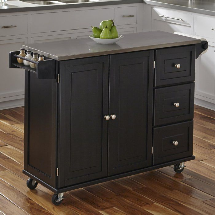 Bring Both Function And Style To Your Kitchen With This Understated Island The Perfect Anchor For Kitchen Cart Stainless Steel Kitchen Island Kitchen Remodel