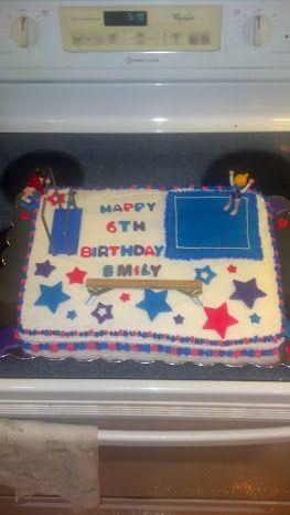 Gymnastics bday cake.